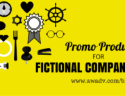 Promotional products for fictional companies